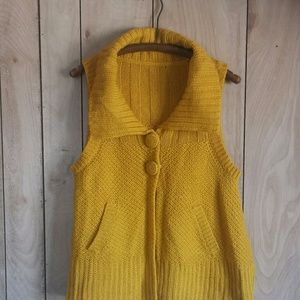 Vintage Mustard Yellow Sweater Vest